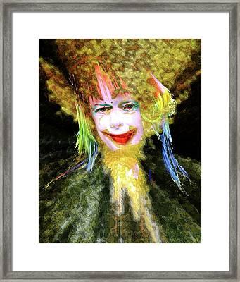 Clown Framed Print by Robert Sloan