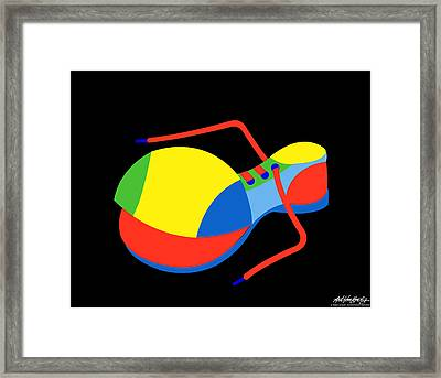 Clown Shoe Framed Print by Asbjorn Lonvig