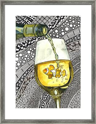 Clown Wine Framed Print by Terri Kelleher