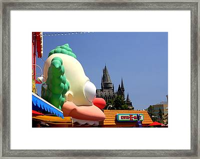 Clowning Around At Hogwarts  Framed Print