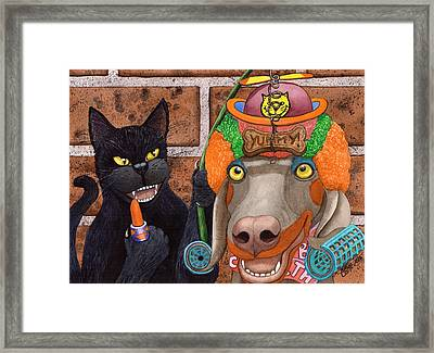 Clowning Around Framed Print by Catherine G McElroy
