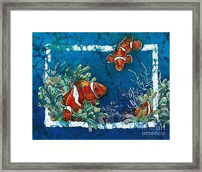 Clowning Around - Clownfish Framed Print by Sue Duda