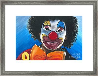Clowning Around Framed Print by Patty Vicknair