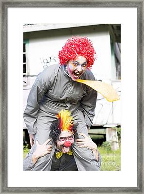 Clowning Around Framed Print