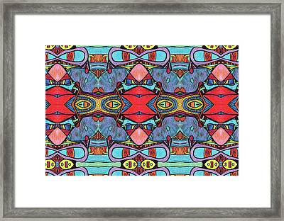Clowning Around With Psychedelica Framed Print