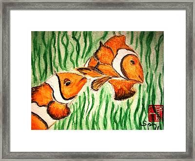 Clowning Fish Framed Print by Spencer  Joyner