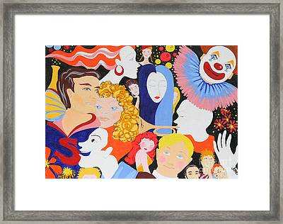 Send In The Clowns Framed Print