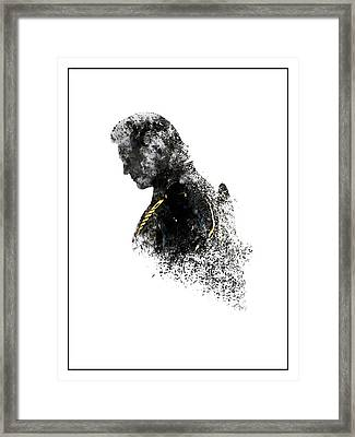 Clu Rinzler Tron Legacy Ink-blot Framed Print by Dakota Randall