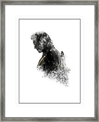 Clu Rinzler Tron Legacy Ink-blot Framed Print
