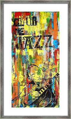 Club De Jazz Framed Print