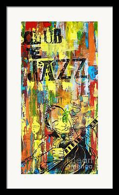 Jazz Mixed Media Framed Prints