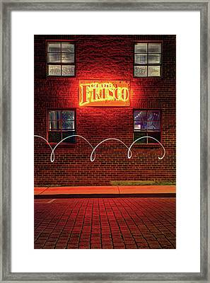 Club Frisco Motion - Rogers Arkansas Usa Framed Print by Gregory Ballos