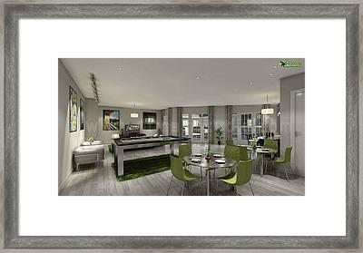Club House Interior Design Rendering Kirklees  Framed Print