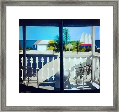 Club Med Turks And Caicos Balcony Framed Print