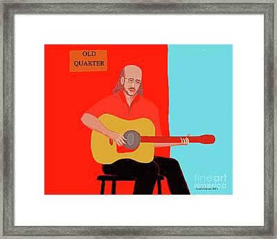 Club Musician Framed Print