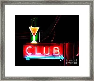 Club Neon Sign 16x20 Framed Print by Melany Sarafis
