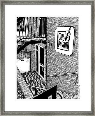 Club Passim, Cambridge, Ma Framed Print by Conor Plunkett
