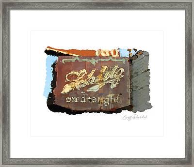 Club Tap Sign Framed Print by Geoff Strehlow