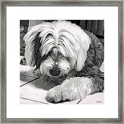 Framed Print featuring the drawing Clueless by Kathy Kelly