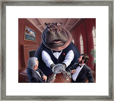 Clumsy Framed Print by Jerry LoFaro