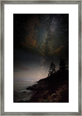 Clutching The Galaxy Framed Print by Brent L Ander