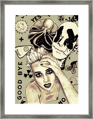 Clutter Framed Print by Courtney Waller