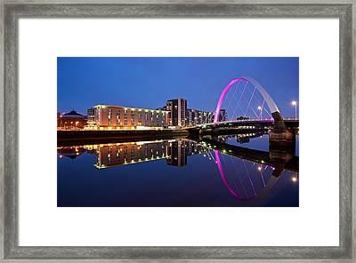 Clyde Arc Glasgow Framed Print