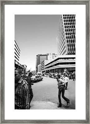 Cms Bus-stop Broad Street I Framed Print