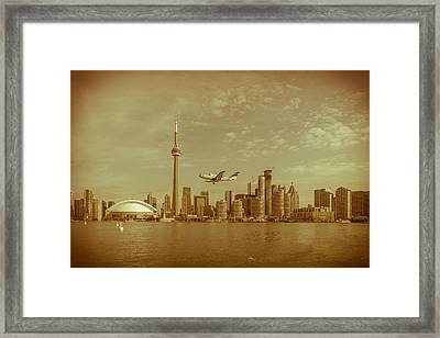Cn Tower Drive-by Framed Print