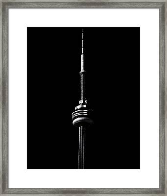 Framed Print featuring the photograph Cn Tower Toronto Canada No 1 by Brian Carson
