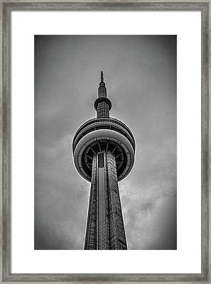 Cn Tower Toronto Framed Print by Martin Newman