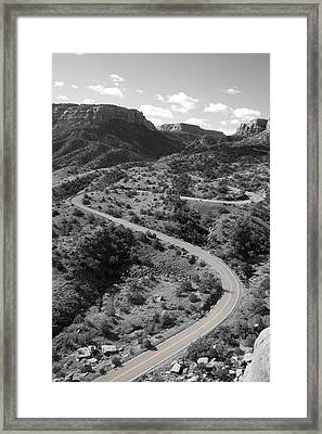 Cnm Switchbacks Framed Print