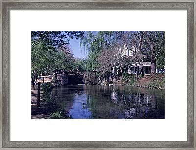 Co Canal Lockhouse Framed Print by Dennis Dismachek