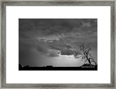 Co Cloud To Cloud Lightning Thunderstorm 27 Bw Framed Print