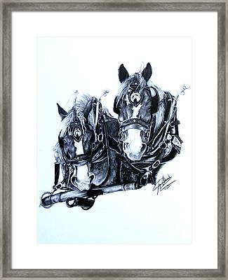 Co Workers Framed Print by Paper Horses Jacquelynn Adamek