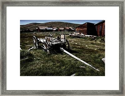 Coach At Bodie Framed Print by Chris Brannen