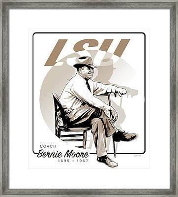 Coach Bernie Moore Framed Print by Greg Joens