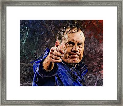 Coach Bill Belichick Framed Print