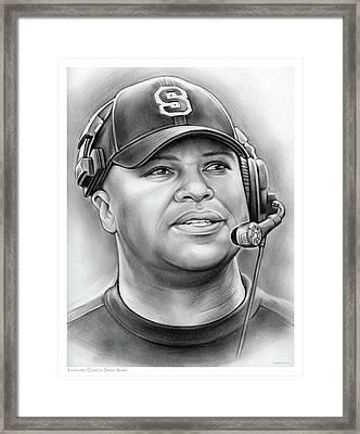Coach David Shaw Framed Print