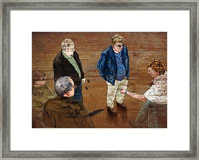 Coach Tales Framed Print by Ross Carroll