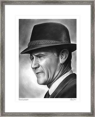 Coach Tom Landry Framed Print