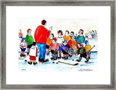 Coach Framed Print by Wilfred McOstrich