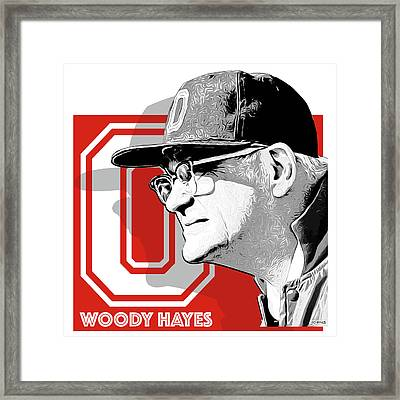 Coach Woody Hayes Framed Print