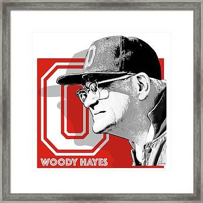 Coach Woody Hayes Framed Print