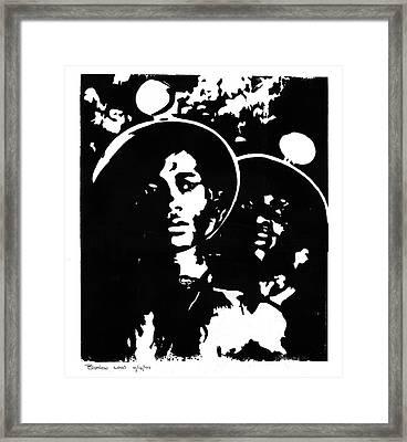 Coal Framed Print by Brett H Runion