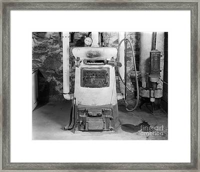 Coal Burning Home Furnace, C.1920-30s Framed Print by H. Armstrong Roberts/ClassicStock
