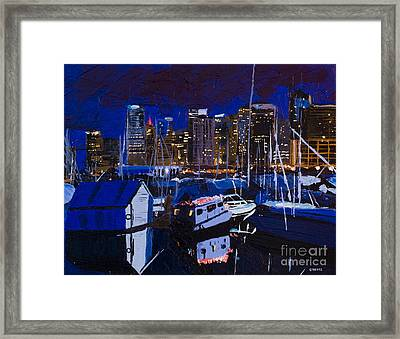 Coal Harbour Framed Print by Ginevre Smith