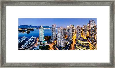 Coal Harbour In Vancouver Framed Print by Alexis Birkill