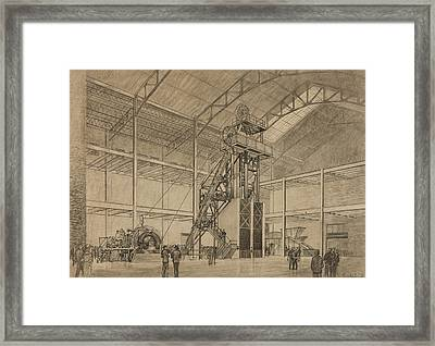 Coal Mine Hoist Framed Print by Percy Hale Lund