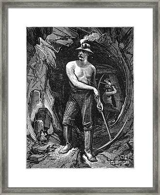 Coal Miner, 19th Century Framed Print